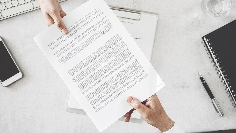 Échange d'un contrat permettant de vous protéger lors de la mise en place d'animation commerciale