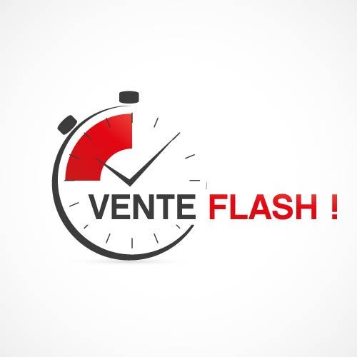 L'affiche d'une vente flash pour une animation commerciale